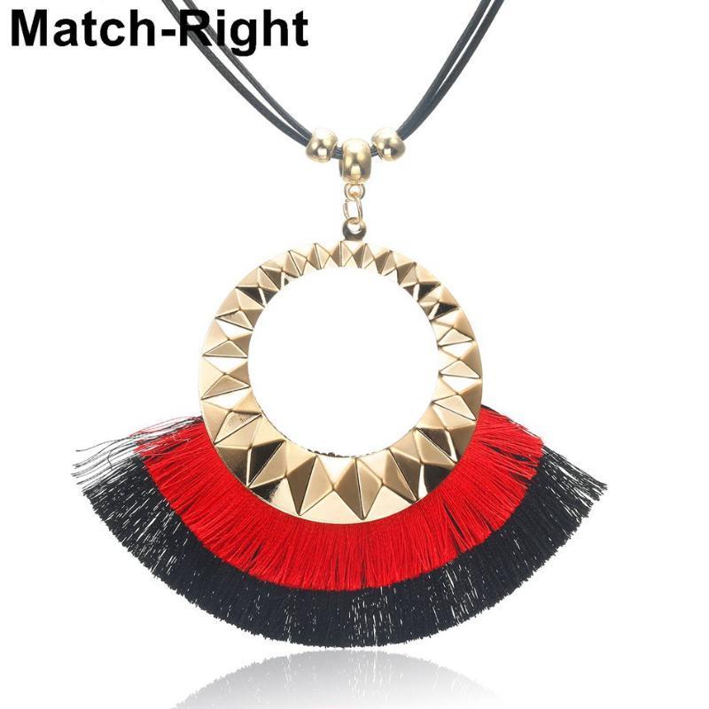 Этнических кисточкой Ожерелье для женщин Шарм длинные ожерелья подвески женщины ювелирные изделия для ожерелье подарки ожерелье Кольер ошейник KK265