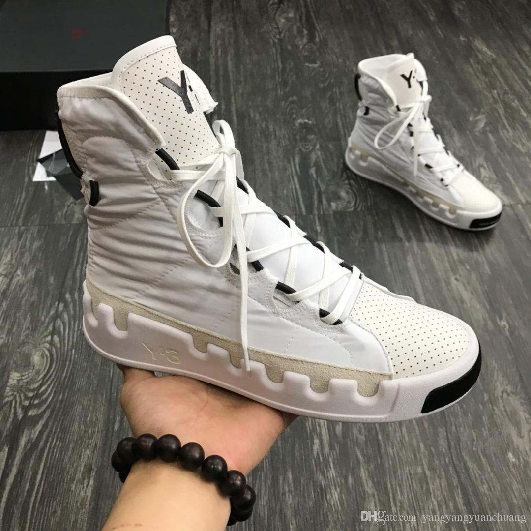 Kanye West Y-3 NOCI0003 Red White Black High-Top Men Sneakers Waterproof Genuine Leather Luxury Designer Y3 Casual 01