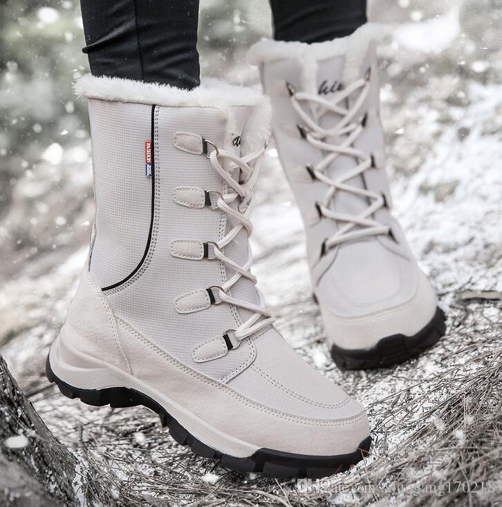 Großer Größe Baumwollschuh, hohe obere Schuhe, Schneefeld Stiefel, Damenschuhe, beiläufiger im Freienschuh 01