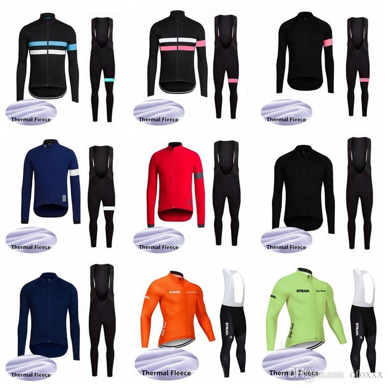 Strava RAPHA Team Radsport Winter-thermische Vlies Jersey-Trägerhose setzt MTB Bekleidung Mann-Winter-Fahrradkleidung einzuen.Kreislauf.durchmachenabnutzung S122723