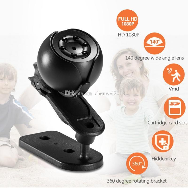 HD Mini Kamera SQ6 Full HD 1080P IR Gece Görüş video kaydedici Kamera DVR ev güvenlik Gözetim kamera desteği hareket algılama