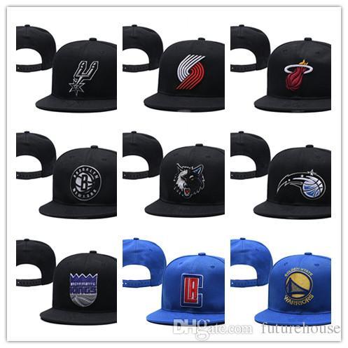 2019 농구 모자, 농구 유니온 팀 스냅 백 모자, 힙합 팝 Cheap Snapback Hat 도매 뼈 Snapbacks 무료 배송