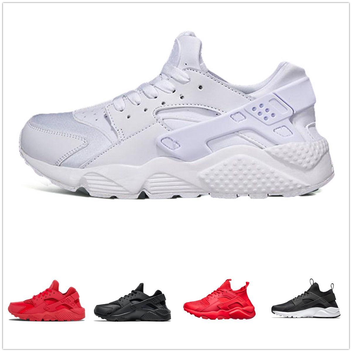 Huarache 4 Erkek Kadın Ayakkabı Koşu Tüm Beyaz Huraches Zapatos Ultra Breathe Huaraches Erkek Eğitmenler Hurache Spor Spor ayakkabılar