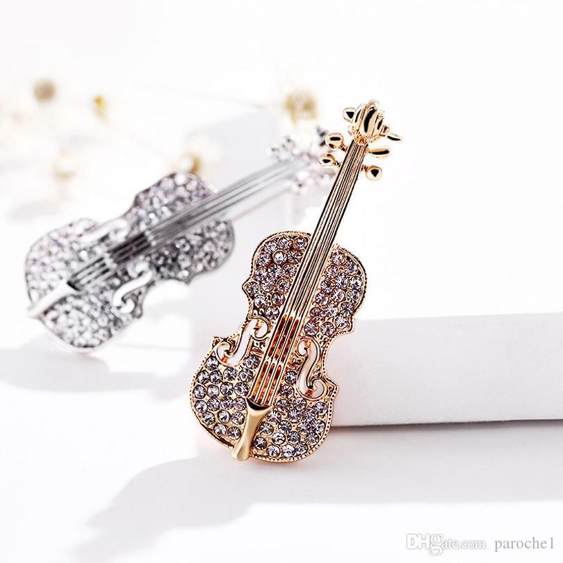 Новые модные Мини-скрипки Броша Аксессуары для британский костюм Аксессуары жениха Носить жених