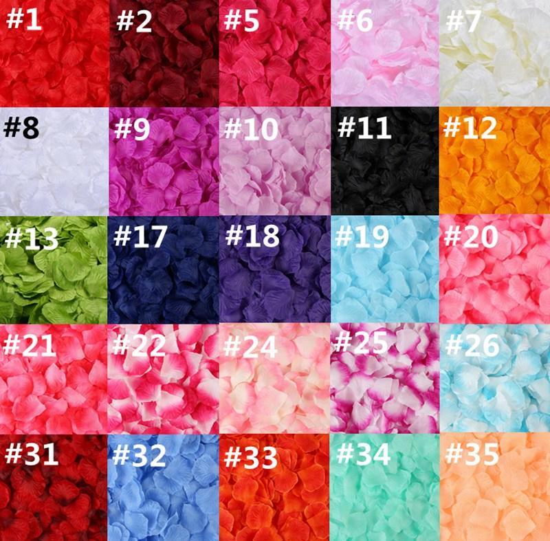 100 قطعة / المجموعة الحرير روز بتلات 20 ألوان الزهور الاصطناعية بتلات حديقة المنزل الزفاف حزب فندق الديكور روز HHA1145