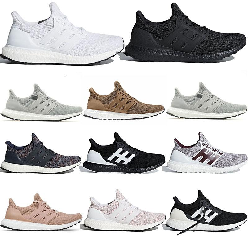 2019 New arrival Ultra B00ST 4.0 breathable running jogging sneakers trainers CNY Triple White Black Ash Peach fast ship excellent quality