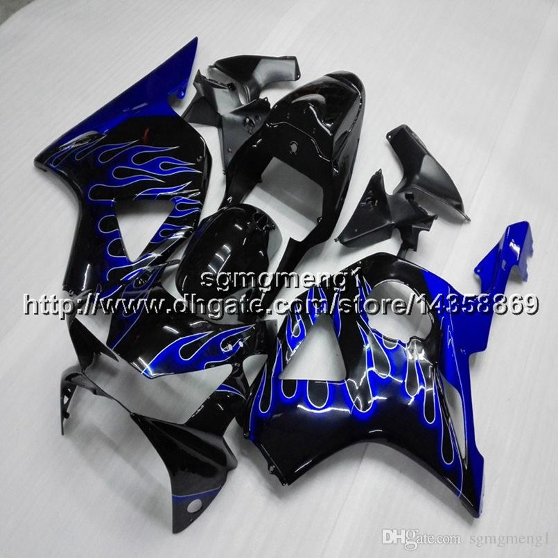 23colors+Screws blue flames motorcycle article for HONDA CBR954RR 2002 2003 CBR 954 RR 02 03 ABS Plastic Fairing
