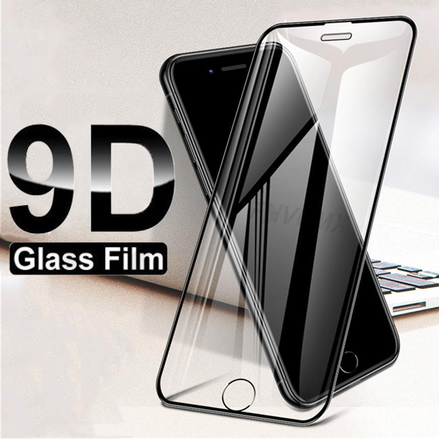 9D en verre trempé pour IPhone 11 / 11Pro / 11 ProMax X / X XR XSMax 7P / 8P 7/8 Anti-Scrath écran protecteur plein écran verre Film HD