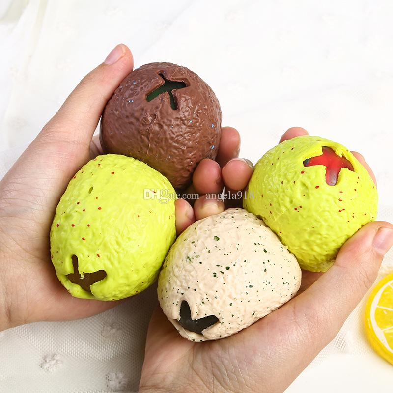 Anti Stress Dinosaur Egg Novelty Fun Splat Grape Venting Balls Squeeze Stresses Reliever Toy Funny Gadgets kids toys L164