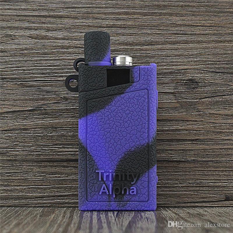Covers Trinity Alpha Silicone casos de silício pele para cobrir Borracha luva de proteção contra pó para Trinity Alpha Vape Kit Battery Box Mod DHL