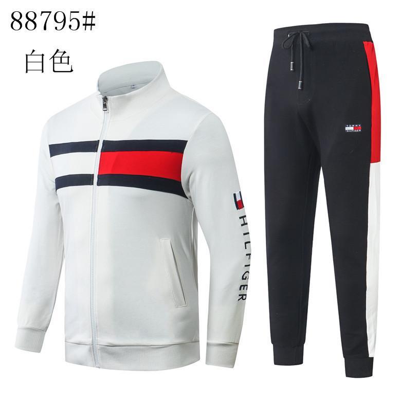 0160 новый мужской спортивный комплект кофты толстовки куртка повседневные брюки толстовка пальто топы брюки фитнес спортивный костюм костюм спортивная одежда плюс размер