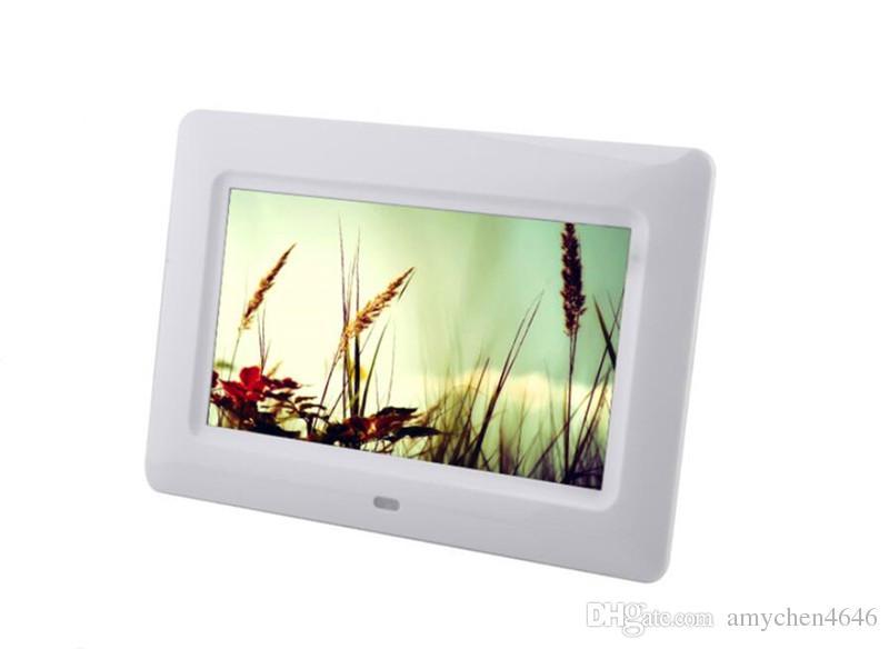 7inch TFT LCD ألبوم الصور الرقمية MP4 Movie Player Alarm cCck 16: 9 JPEG / JPG / BMP MMC / MS / SD MPEG AVI Xvid مجانًا