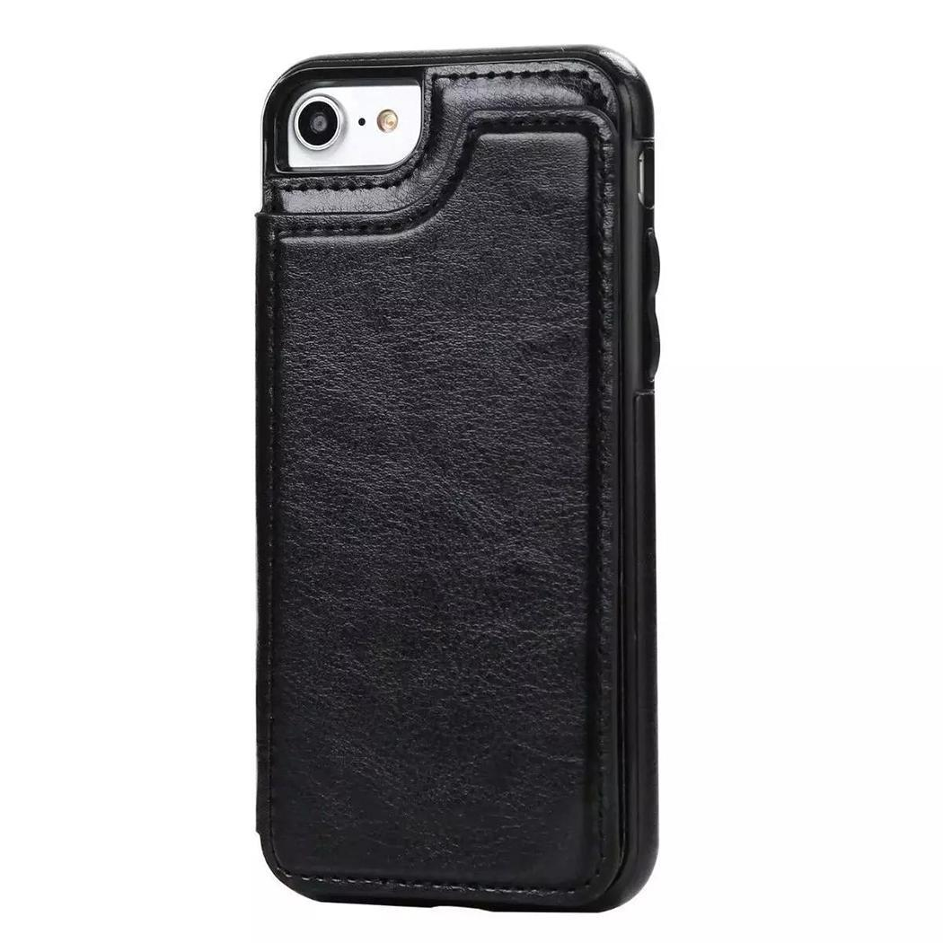 New Artificial Leather Body Skin Mobile Phone Solid For 7Plus, For 8Plus Shell Protector Card Bag for Apple