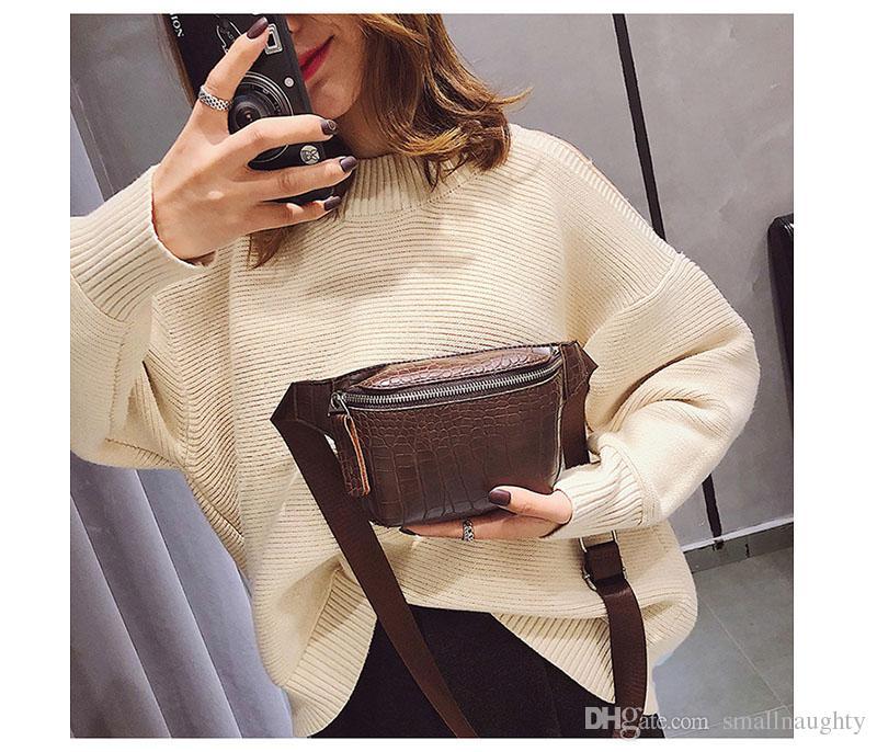 Женская сумка из искусственной кожи Fanny Pack Модная сумка для ремня Женская сумка для телефона Повседневная черная сумка для груди