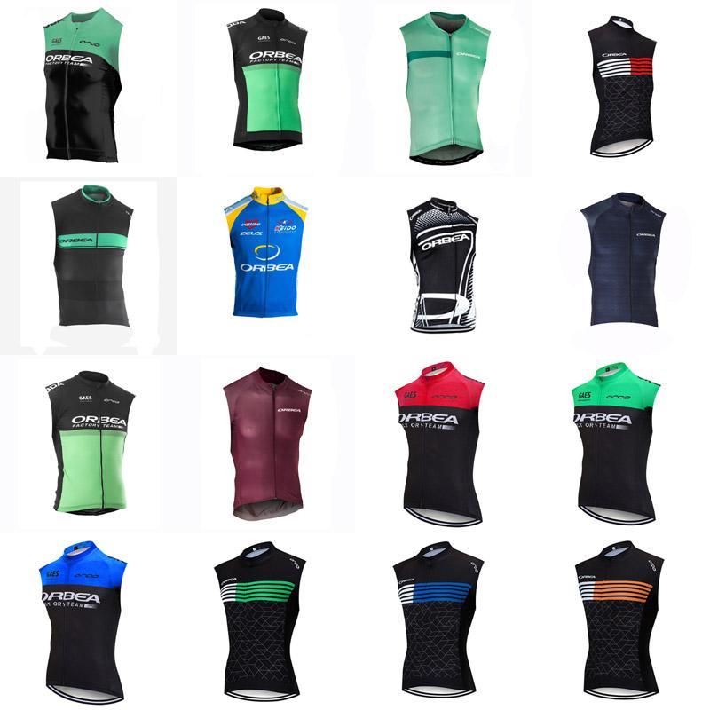 Команда ORBEA 2020 мужчин Летний Велоспорт Джерси рукавов жилет дышащий роуд MTB одежда Быстросохнущая Открытый Sportwear E61809