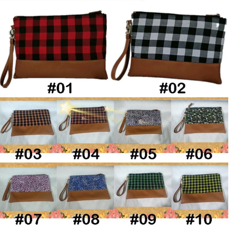 Buffalo Color 10 Замок на молнии Косметическая красная клетчатая сумка Buckalo сумка кошелька сцепления сумочка женская сумка с zjj97 xhhrhj