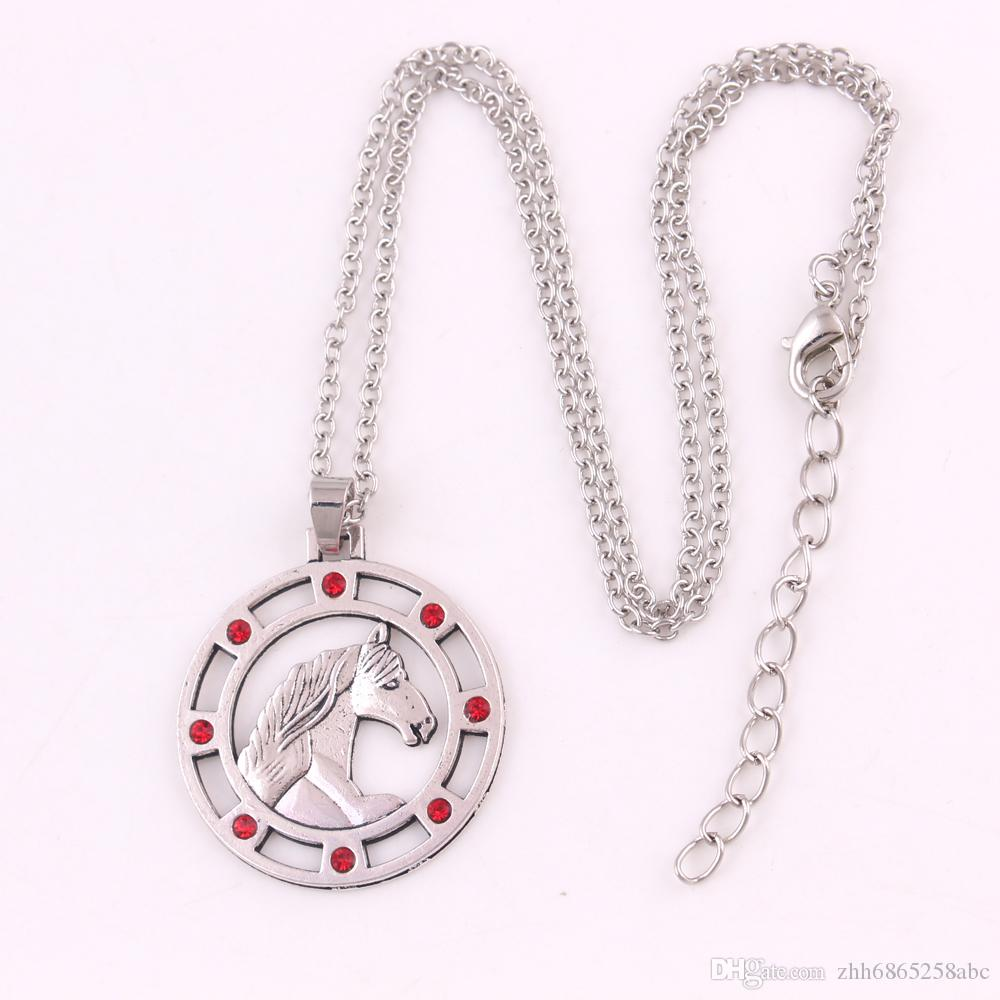 HL0083 Factory direct sales fashion new design viking necklace knotted adjustable horse necklace European religious jewelry