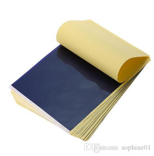 حار بيع 25 قطعة / الوحدة 4 طبقة الكربون الحرارية استنسل الوشم نقل ورقة نسخة ورقة تتبع ورقة المهنية الوشم التموين الإكسسوارات