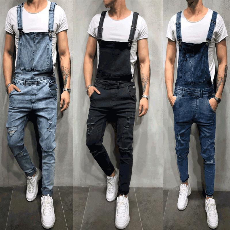 Compre Nuevo Diseño De Pantalones Y Tirantes De Jeans Para Hombres A 17 88 Del Liyiran Dhgate Com