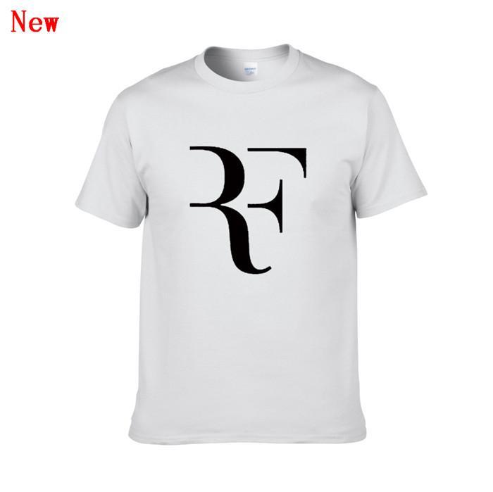 Nueva Roger Federer RF camisetas del tenis de los hombres algodón de manga corta impresa perfecta para hombre de la camiseta de la moda masculina Deporte Oner dimensionado Tees ZGY1