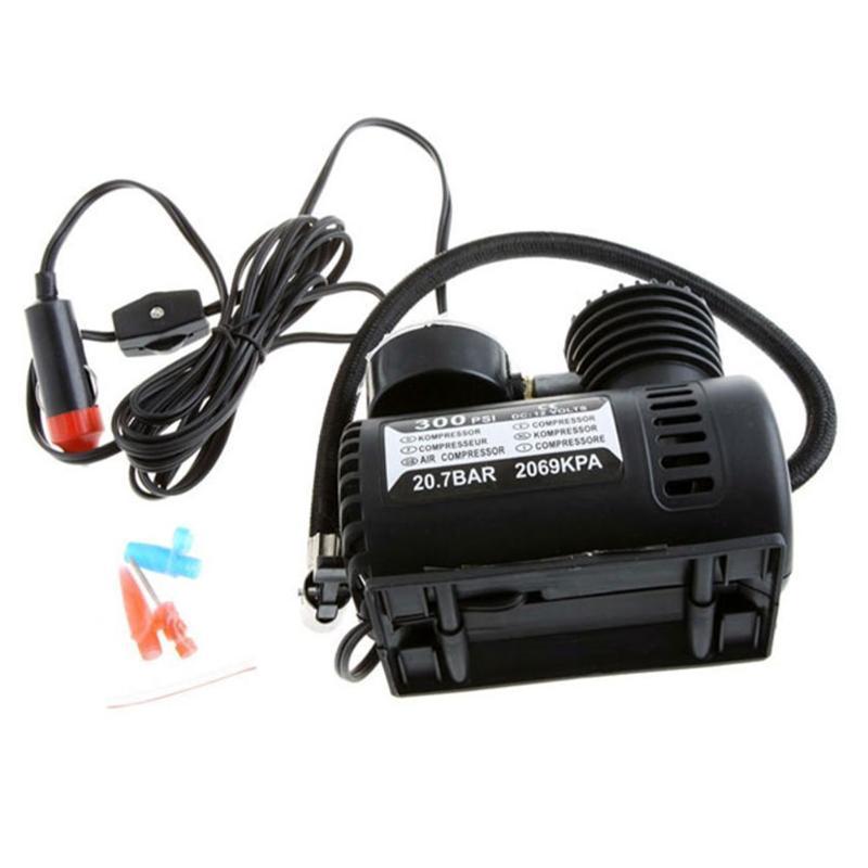 MINI Portable Car/Auto Air Compressor 12V Electric Tire Infaltor Pump 300 PSI