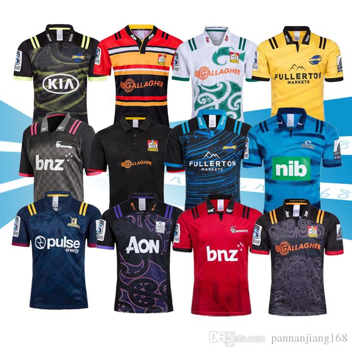 새로운 2019 2020 참모 슈퍼 럭비 저지 뉴질랜드 슈퍼 성인 남자 참모 블루스 태풍 십자군 고지 2019 럭비 유니폼 셔츠