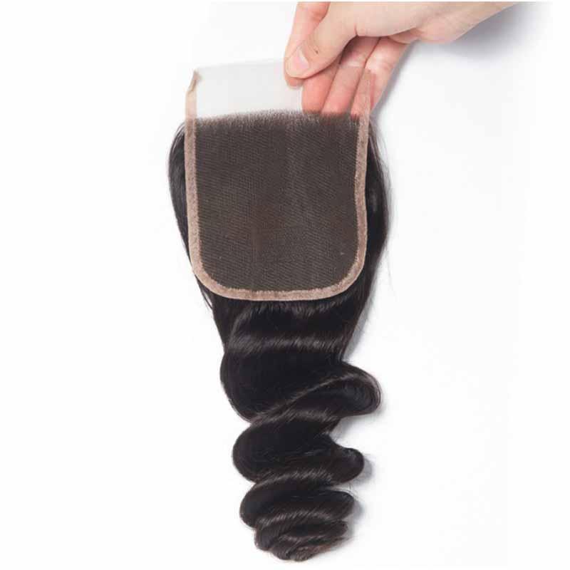 Top Lace Closure 4x4 inches Brazilian Human Hair Loose Wave Lace Closure Deep Water Loose Deep Wave Human Hair Lace Closure