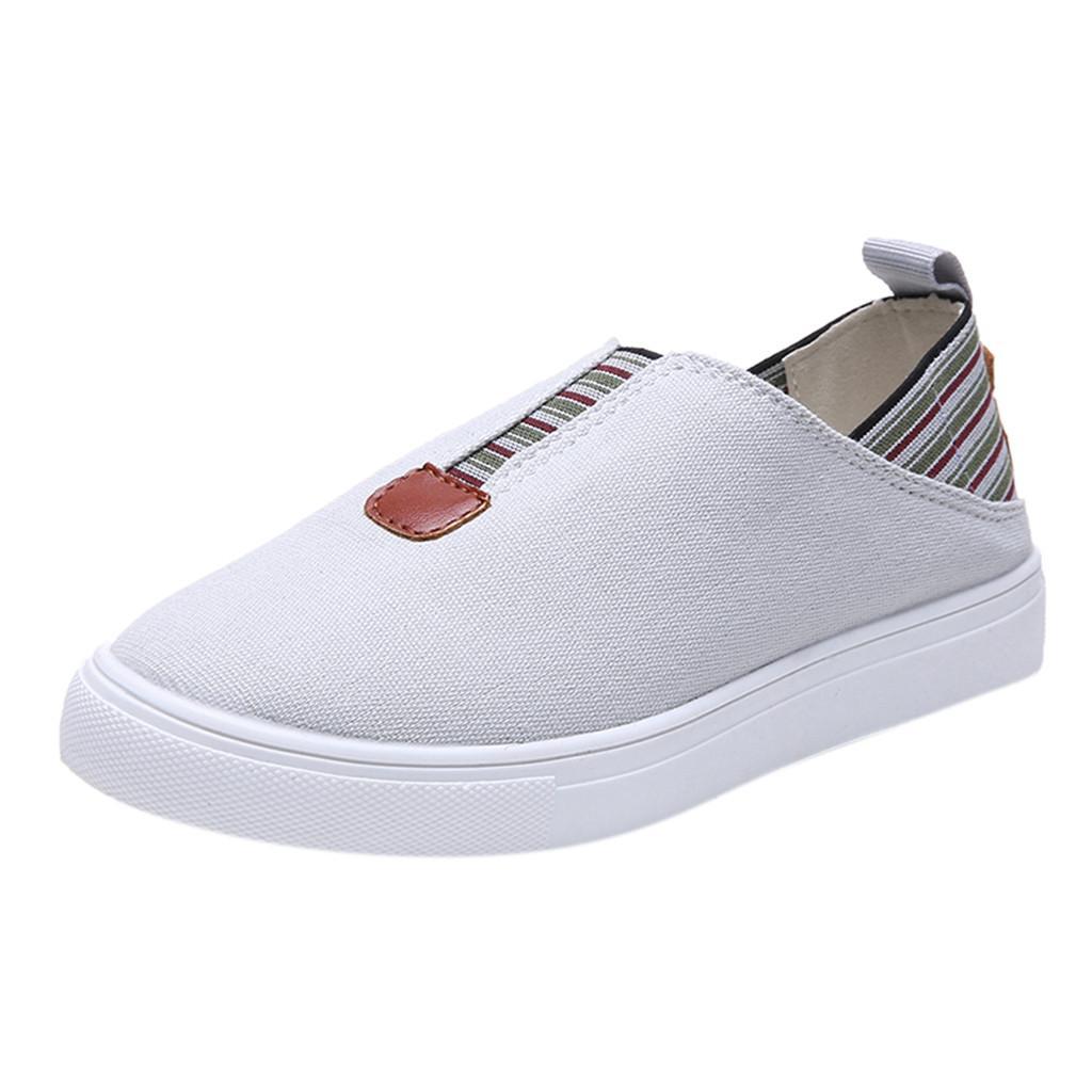 2019 nuevas mujeres damas moda holgazanes informales zapatos de lona romanos Europa moda calidad garantizada zapatos de mujer% 40