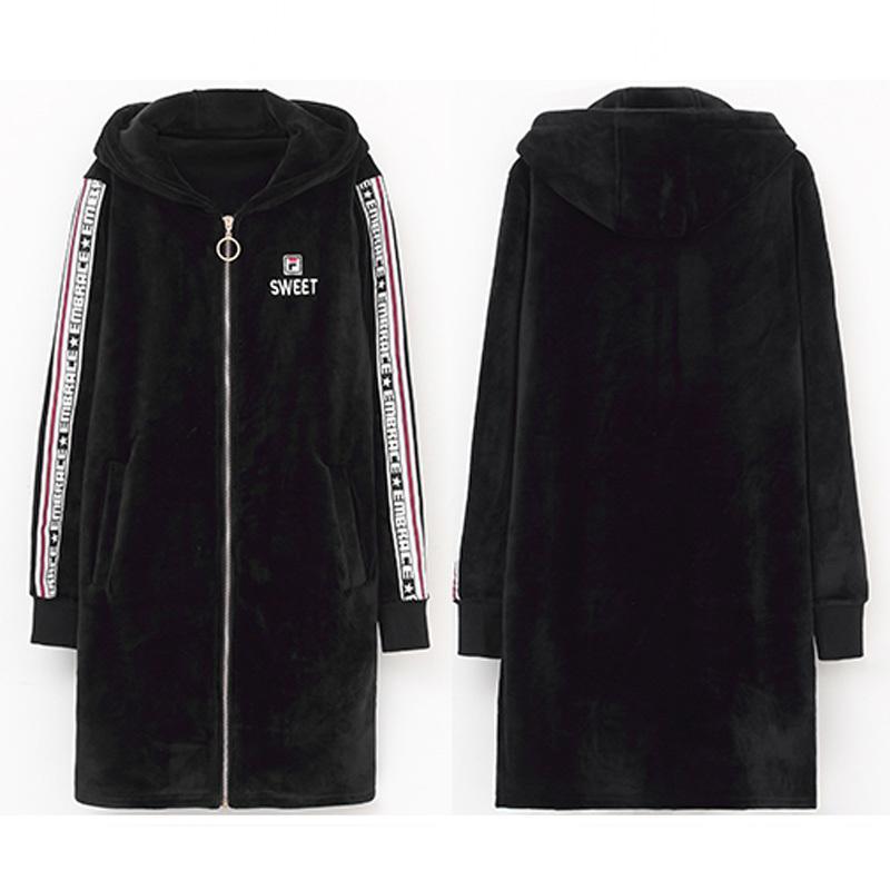 2020 2019 Fashion Autumn Winter Warm Double Fleece Long Pullover