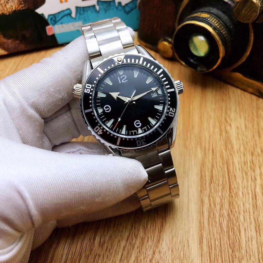 Famosa marca relógios preto de alta qualidade super espelho homens relógios mecânicos automáticos à prova d 'água com melhor presente dos homens de alta precisão