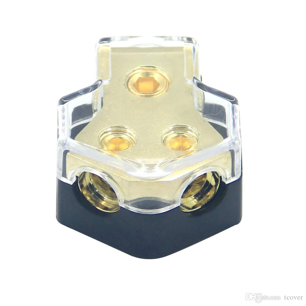 Car Audio Stereo Power Ground Wire Splitter Distribution Block 4-Way 4//8 GA