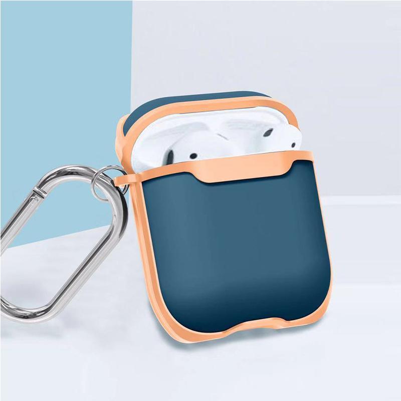 Para Airpods Pro Case anti pérdida cáscara protectora con el color de la hebilla bump Para airpods 1/2 y airpods POR