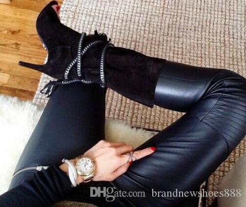 Peep toe mid-calf Frauen Stiefel Party Frauen Schuhe Neue Mode Günstigen Preis Heißer Verkauf Sexy High Heel Büro Dame Große größe