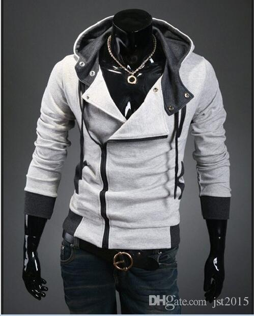 Wholesale-Hot Sale Homens Assassins Creed Hoodie Brand Design Zipper camisola Men Treino Tamanho M-6XL