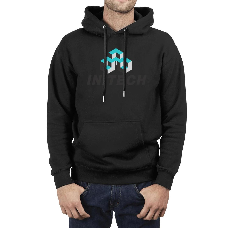 Initech Logo Fo Männer lose Pullover-Strickjacke Känguru-Tasche Büro-Logo