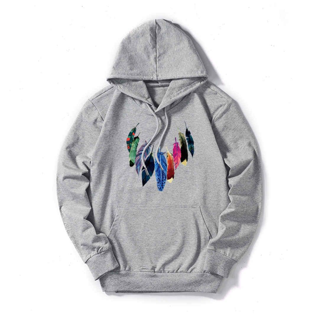 Мужская толстовка с капюшоном Дизайнерская толстовка Мужская толстовка с капюшоном Streerwear Модные пуловеры с длинным рукавом 9 Красочное перо Супер Качество