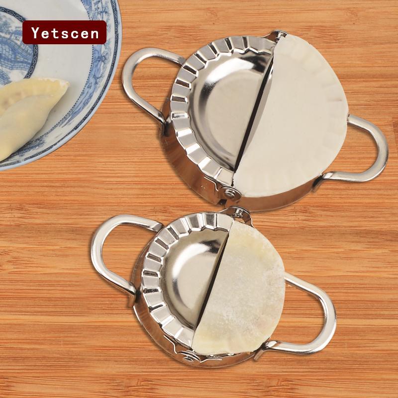 Нержавеющая сталь клецки чайник 2 размер резак пирог равиоли обертка клецки плесень кондитерские инструменты Makingset1 набор кухня