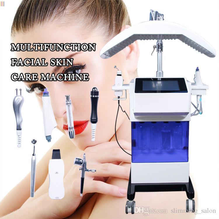 la machine microdermabrasion 8 en 1 peau hydro pistolet peeling eau visage RF soins équipement de rajeunissement