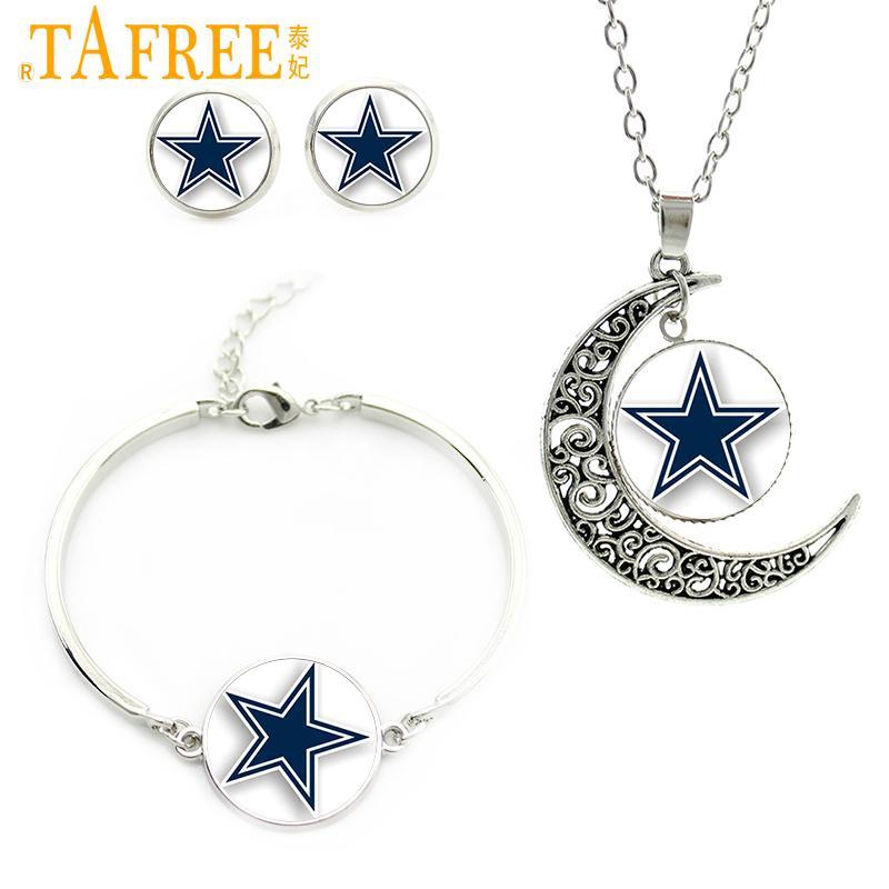Gioielli di moda Imposta TAFREE stella blu macchine famose squadre di football americano orecchini collana bracciale più nuovo regalo di sport N02