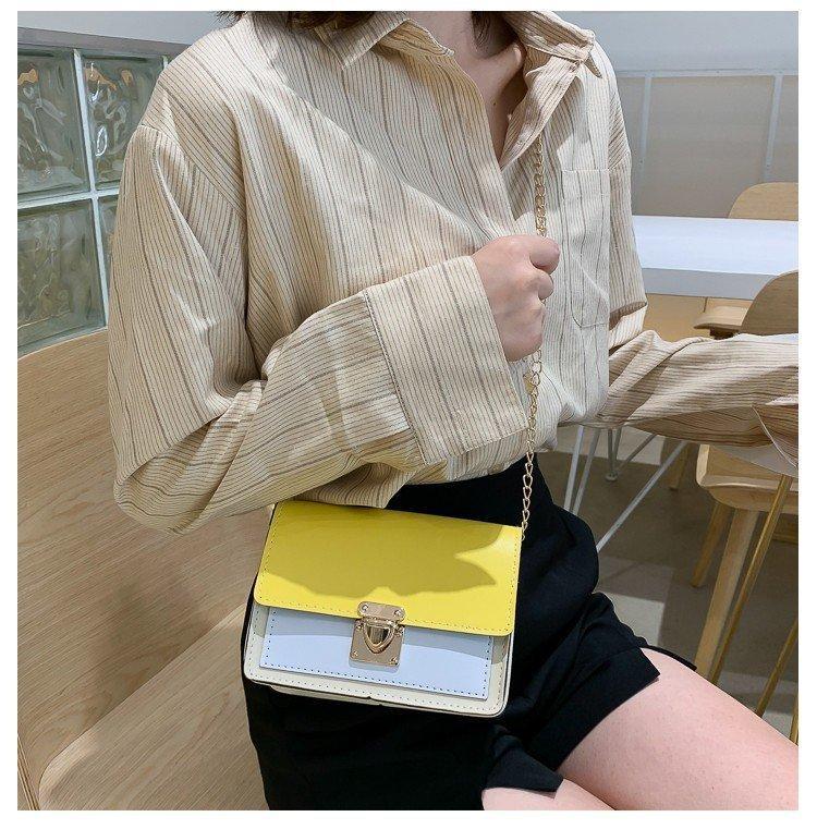 Летний Новый корейский стиль моды сумка Заблокировать Женские маленький квадрат сумка