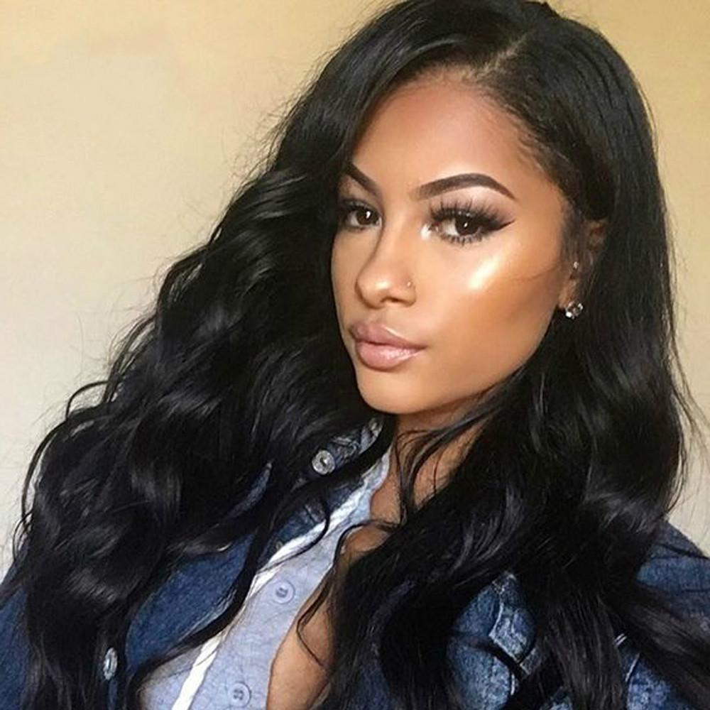 Body Wave Lace Front Human Hair Wigs 13x6 Indian Remy Hair Pre Plucked Full and Thick Wigs for Black Women
