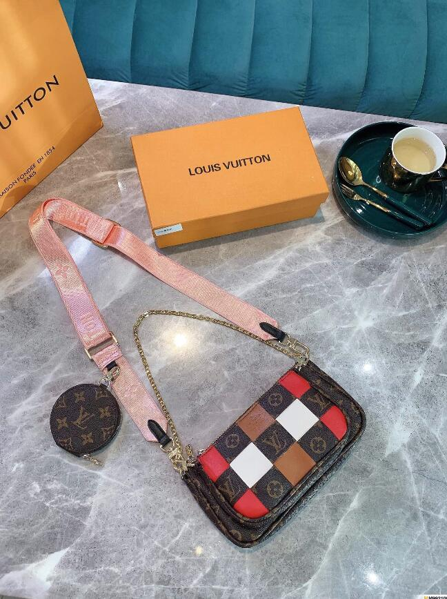 # 54654 Naverfull 5A + L Designer-Einkaufstasche V Fashion Frauen Umhängetasche Classic Lady Messenger Handtaschen-Geldbeutel beiläufige Taschen mit Clutch