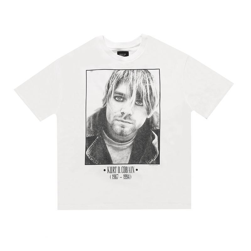 하나님 커트 코베인 록 밴드 빈티지 사진 티 스케이트 보드 티셔츠 안개 남성 여성 짧은 소매 캐주얼 T 셔츠의 20ss 힙합 6 일 공포
