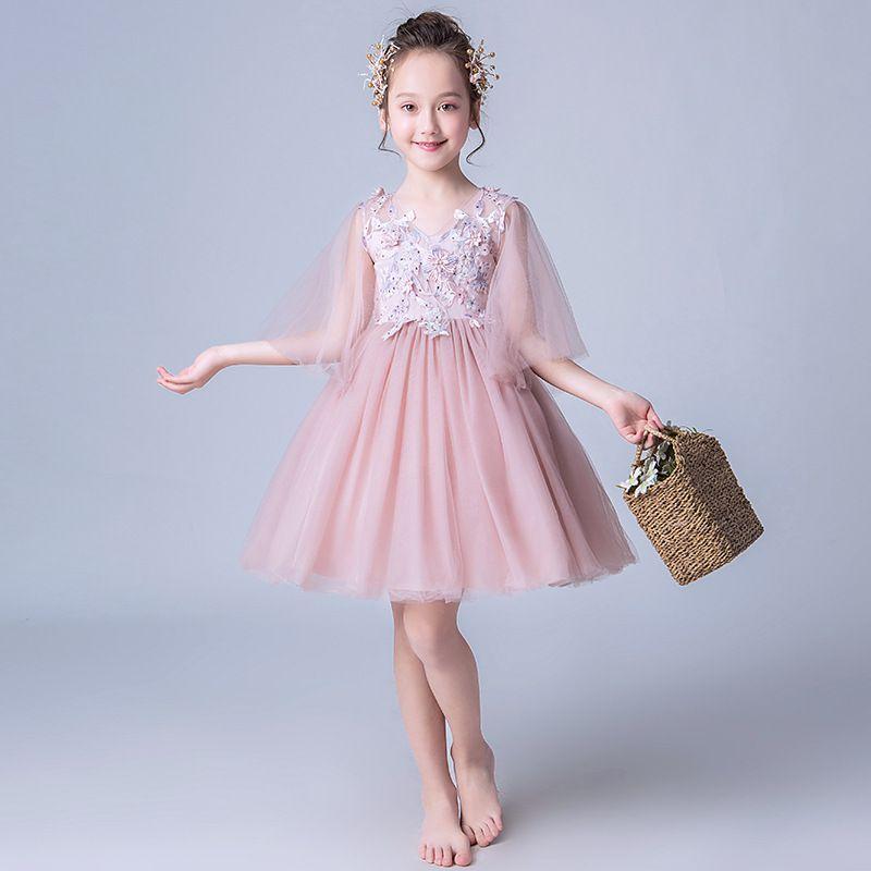 Compre Vestidos Para Niñas De Verano Fiesta De Cumpleaños Para Adolescentes Concierto Para Piano Día Para Niños Vestidos De Noche Hinchados Vestidos
