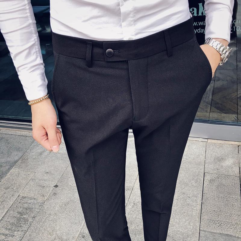 men dress pant 2019 Blue black khaki mens pants Asia size 29 30 31 32 33 34 36 trousers men