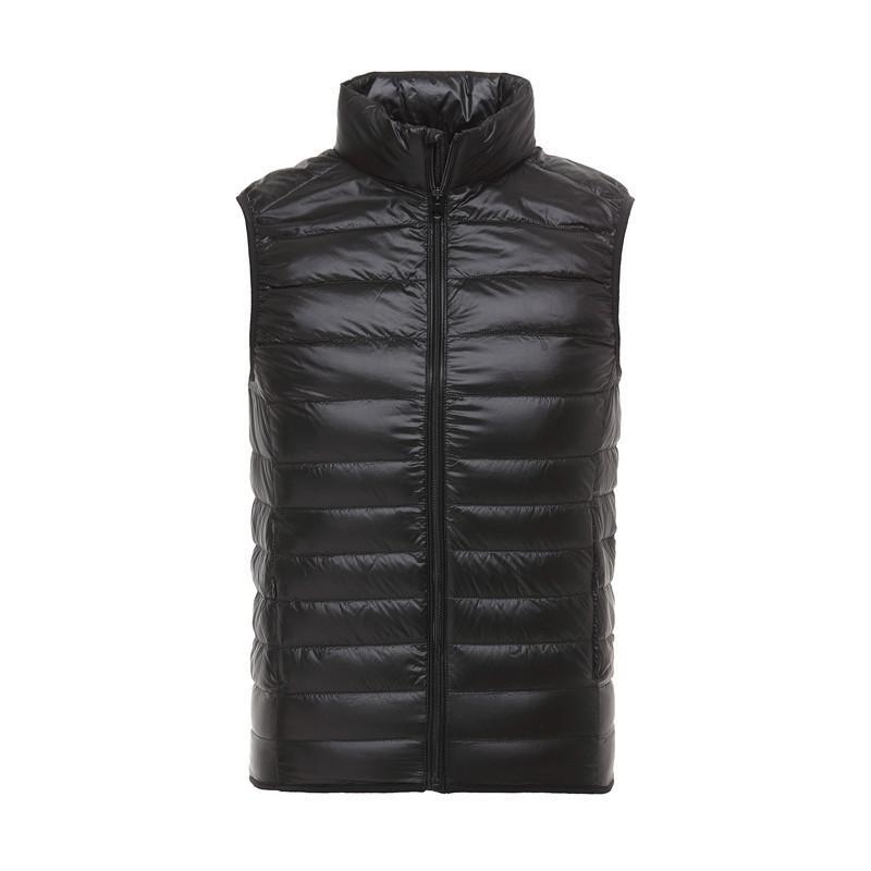 Jacket Men Down Vest Coats Mens Outdoor Grosso quente pato branco para baixo ombro colete jaqueta