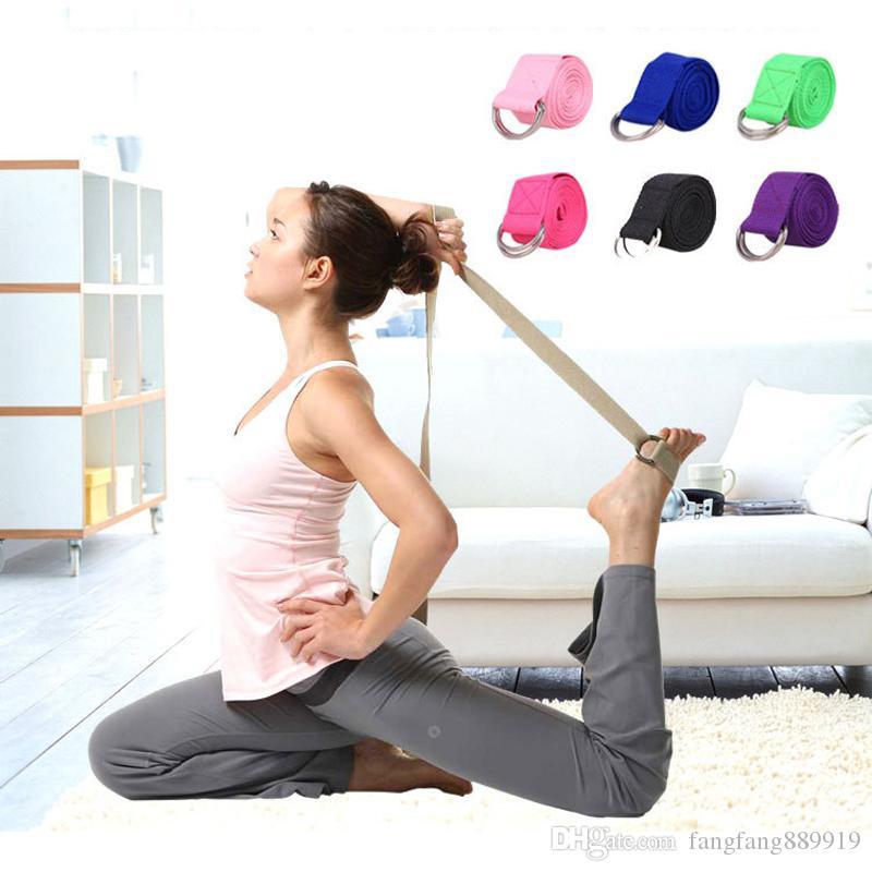 183CM Yoga Stretch Strap D-Ring Belt Gym Waist Leg Fitness Adjustable SALE