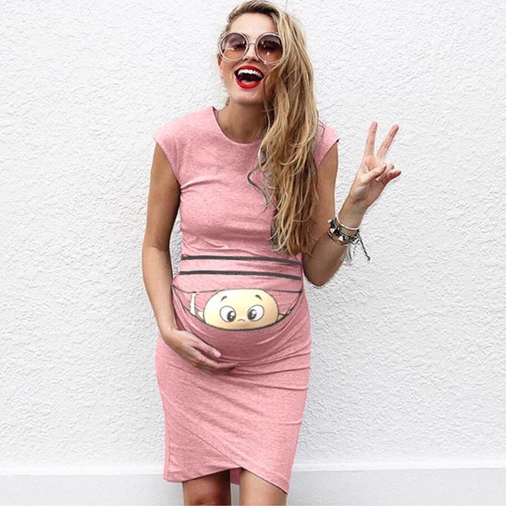 Hemşirelik Elbise Kadınlar Yaz Şık Günlük Bebek Hamile Hamilelik Giyim 19Feb20 Besleme İçin Uzun Emzirme Elbise yazdır