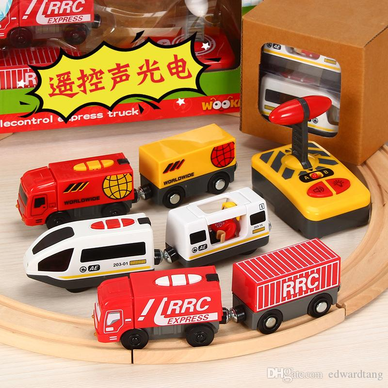 Electric Remote Control Train Model Toy, Compatible with Thomas Train Tracks with Lights, Sound, for Party Christmas Kid' Birthday Gifts
