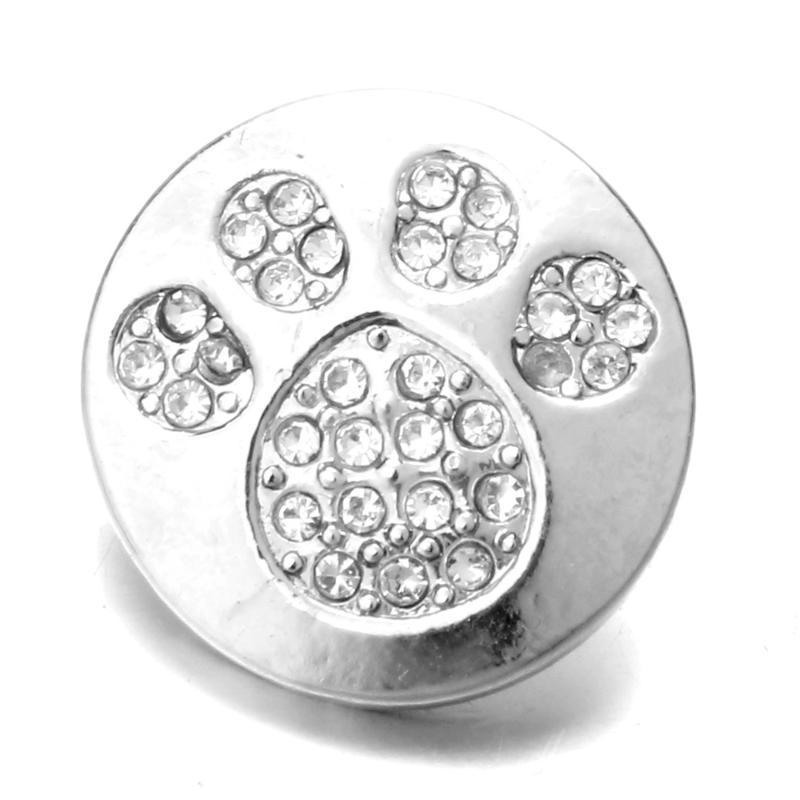 20 pcs Nouveau Ours Fleur Conception Snap Bouton 18mm Snap Charmes Fit Snaps bijoux boutons Fit 18mm boutons Bracelet Bijoux